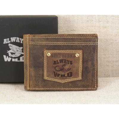 Pánská kožená peněženka Always Wild N992-BTB