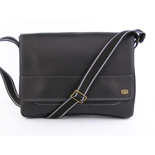 Kožená taška přes rameno 437 K- 091 černá