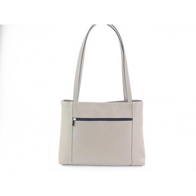 Kožená kabelka A4-šedá