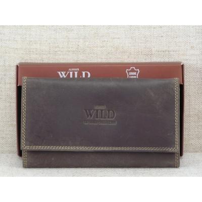 Dámská kožená peněženka D09-MH hnědá