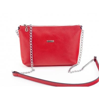 Kožená taška -červená