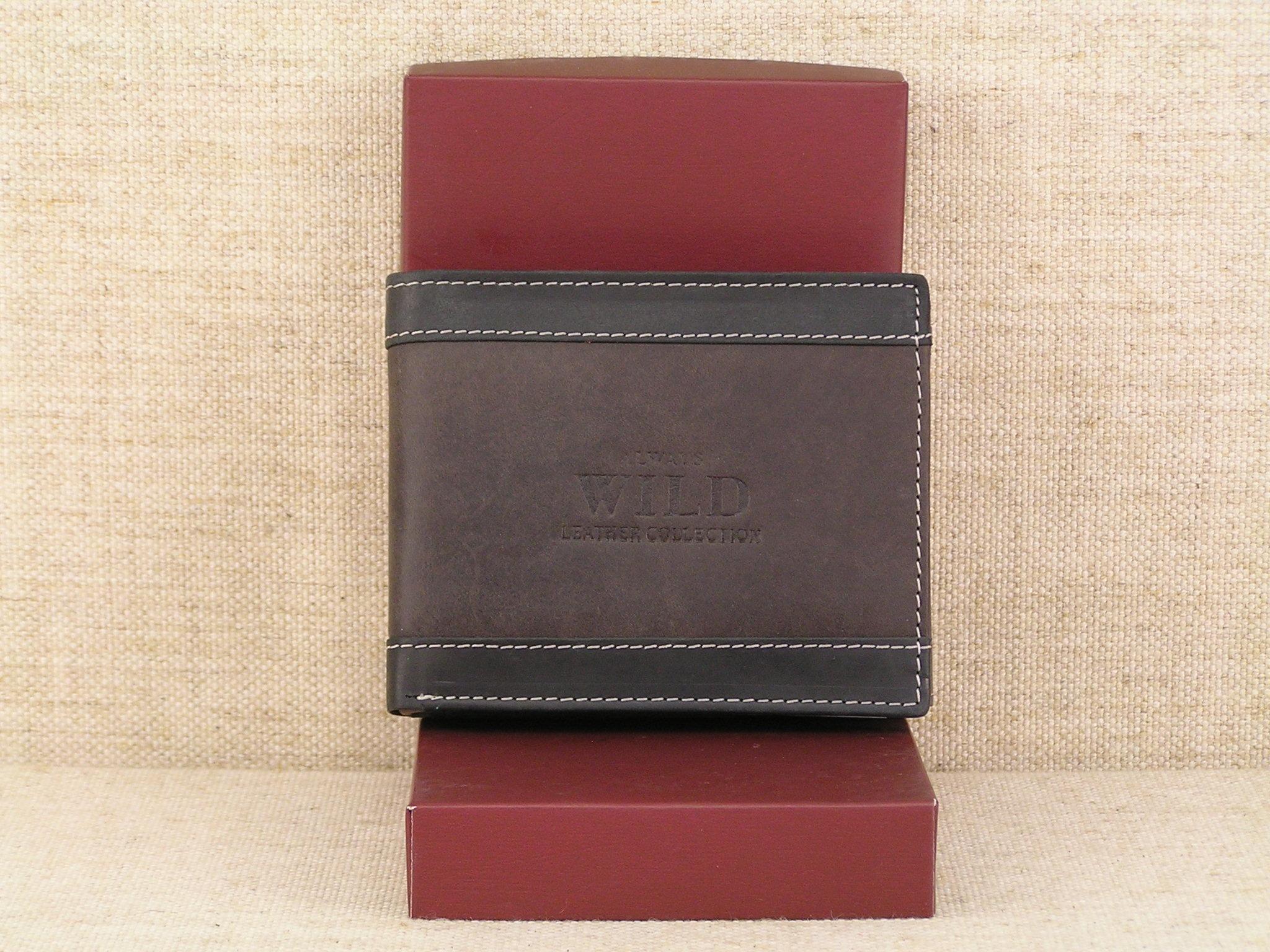 57823dffa3af6 Pánská kožená peněženka Always Wild N992 - DB hnědá - Greisi
