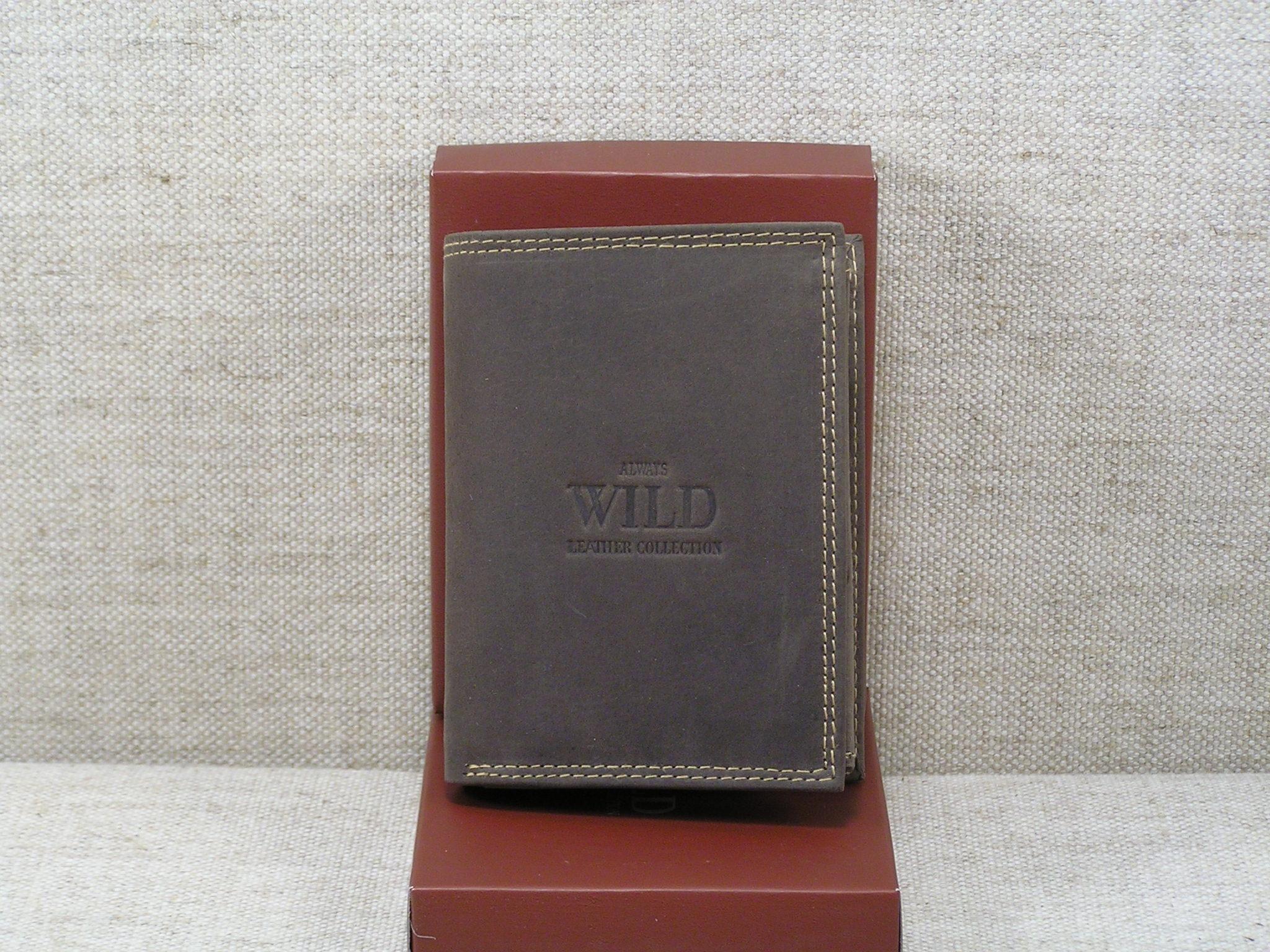 f408fc1de8dc6 Pánská kožená peněženka Always Wild -N4-MH hnědá - Greisi