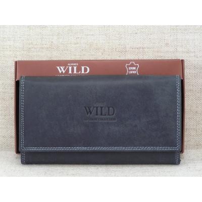 Dámská kožená peněženka D09-MH černá