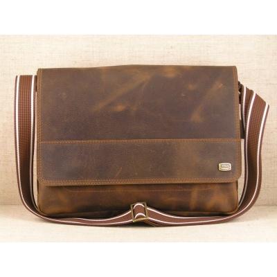Kožená taška přes rameno 437K - Sc, hnědá,kaštan