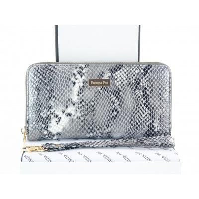 Dámská kožená peněženka - šedá