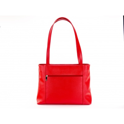 Kožená kabelka A4 červená