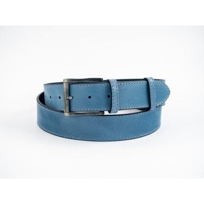 Dámský kožený opsek 4 cm-modrý