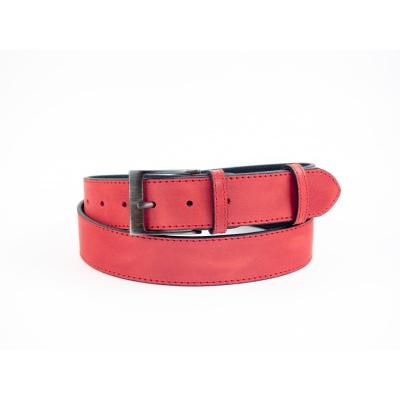 Dámský kožený opsek 4 cm-červený