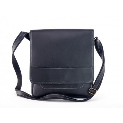 Kožená taška přes rameno vzor 436  - sc- černá