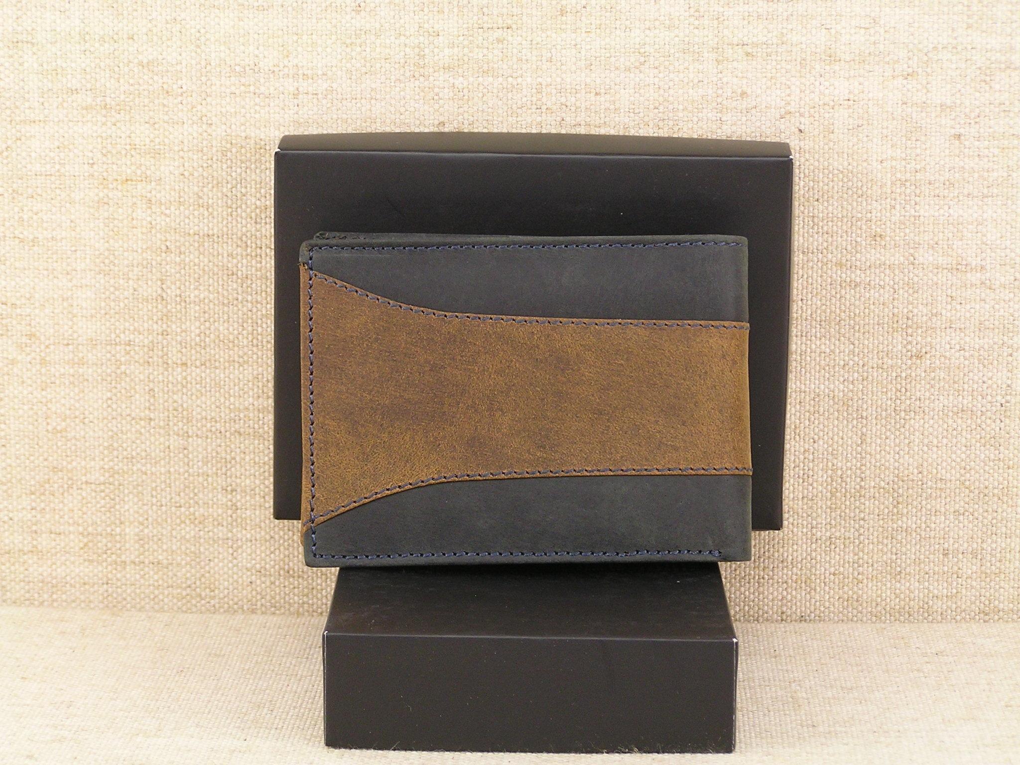 3defe574fd976 Pánská kožená peněženka Always Wild N992 - SAF černohnědá - Greisi