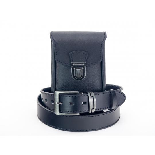 Zvýhodněný set M9-č, kožená kapsa + kožený opasek
