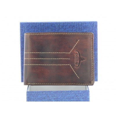 Pánská kožená peněženka Buffalo Wild - hnědá
