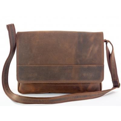 Kožená taška přes rameno 437-sc hnědá,kaštan