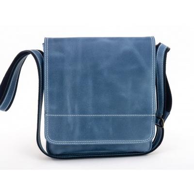 Kožená taška přes rameno - 434 modrá