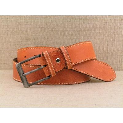 Dámský kožený opasek oranžový D4 - 7o