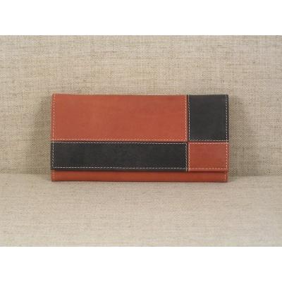 Dámská kožená peněženka 3101 červeno černá