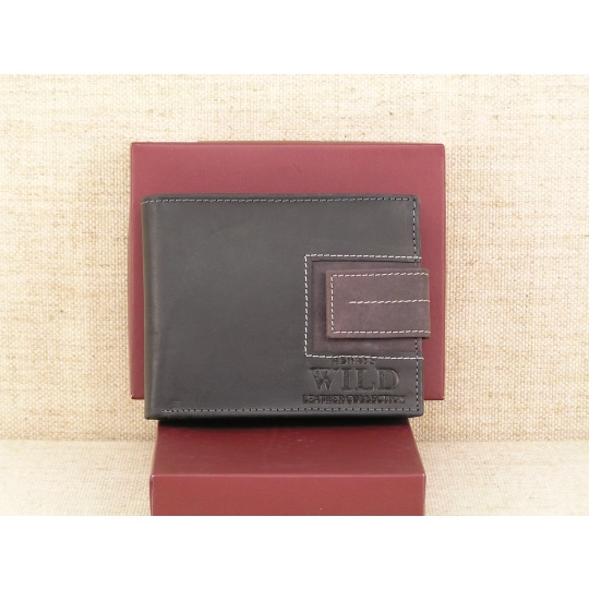 Pánská kožená peněženka Always Wild N992L- SQ černá