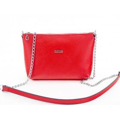 Kožená kabelka - červená, Safiano