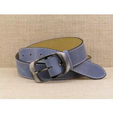 Dámský kožený opasek D4 - 13m tmavě modrý