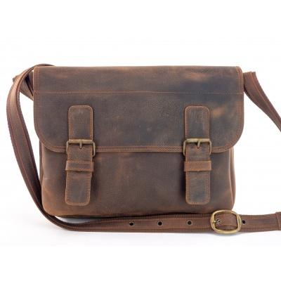 Kožená taška přes rameno 445 - Sc, hnědá,kaštan