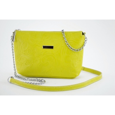 Dámská kožená kabelka žlutá