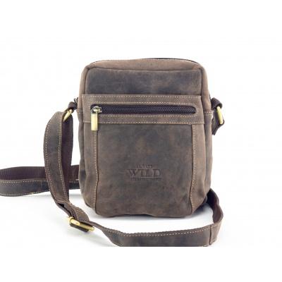Kožená taška přes rameno, Always Wild -hnědá