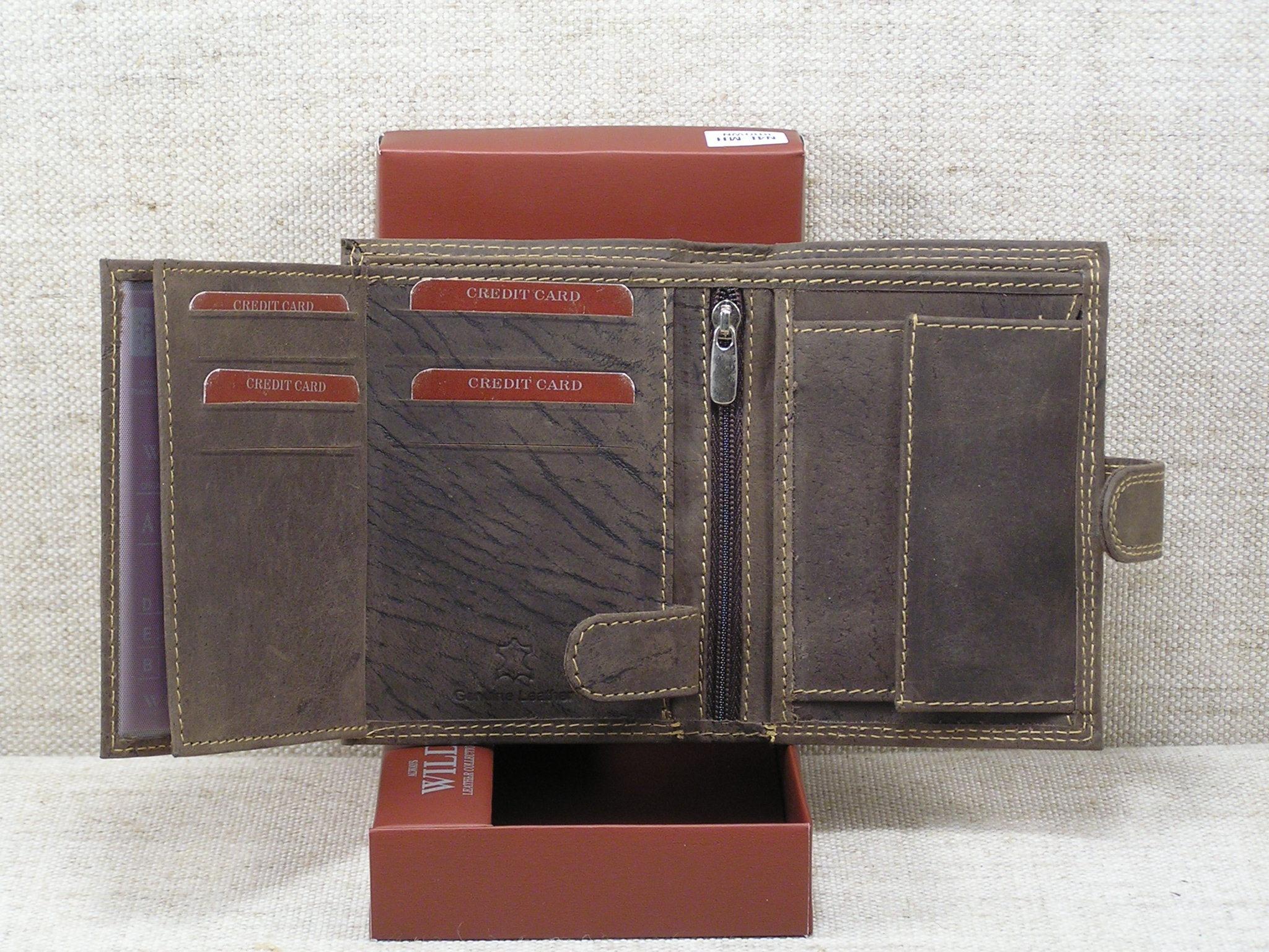 8e5ef27d14006 Pánská kožená peněženka Always Wild -N4L-MH hnědá - Greisi