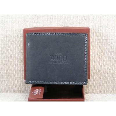 Kožená peněženka Wild -černá