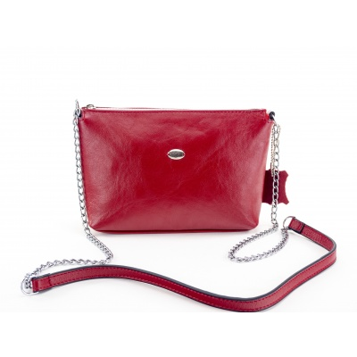 Kožená kabelka - červená