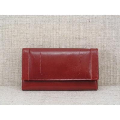 Dámská kožená peněženka vz.9606 červená