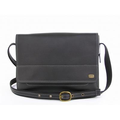 Kožená taška přes rameno 437 - 91 černá