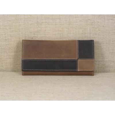 Dámská kožená peněženka 3101 hnědo černá