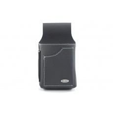 Kožená kapsa na číšnickou kasírku  - černá