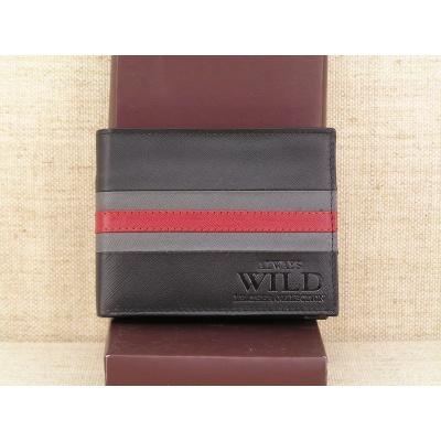 Pánská kožená peněženka Always Wild N992 - SF černočervená